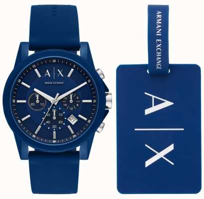 Armani Exchange Мужские спортивные часы подарочный набор AX7107