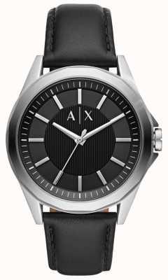 Armani Exchange Мужские наручные часы | черный кожаный ремешок | AX2621