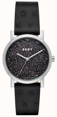DKNY Dkny дамы soho часы черный кожаный ремешок NY2775