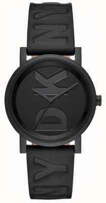 DKNY Черный кожаный ремешок для часов Soho NY2783