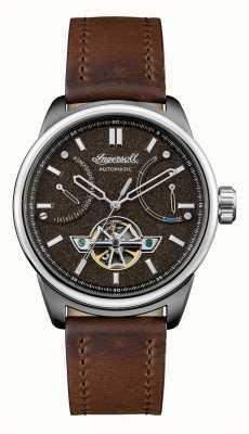 Ingersoll Триумф автоматический коричневый кожаный ремешок I06703
