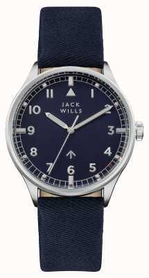 Jack Wills Mens camperdown темно-синий dial темно-синий ремешок JW001BLSS