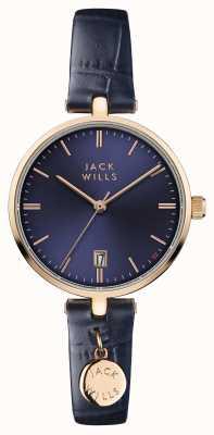Jack Wills Синий кожаный ремешок женского цвета bennett JW005BLRG