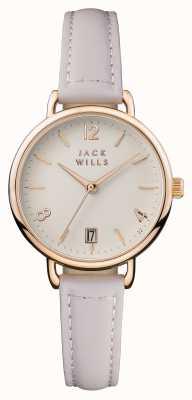 Jack Wills Женская рубашка с розовым кожаным ремешком JW006PKRS