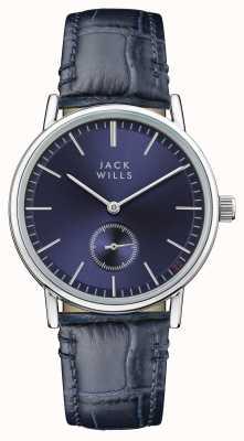 Jack Wills Синий кожаный ремешок синего цвета JW007BLSS