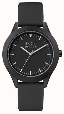 Jack Wills Черный силиконовый ремешок черный черный JW008BKBK