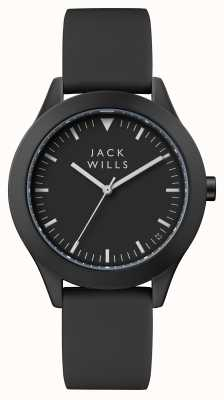 Jack Wills Черный черный черный силиконовый ремешок JW009BKBK