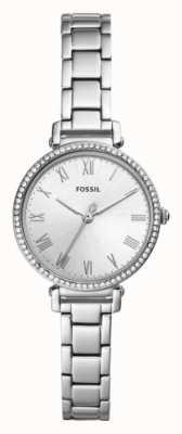 Fossil Белый циферблат из нержавеющей стали ES4448