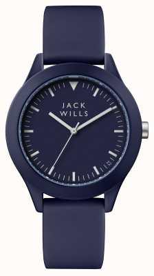 Jack Wills Синий силиконовый ремешок с синим циферблатом JW009BLBL