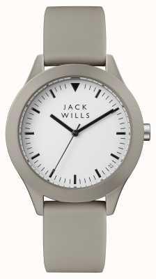 Jack Wills Мужская серия белый циферблат серый силиконовый ремешок JW009WHGY