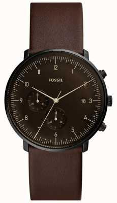 Fossil Кожаный кожаный ремешок из натуральной кожи коричневого цвета FS5485