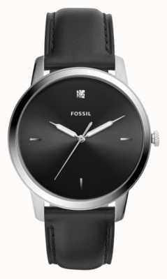 Fossil Черный черный кожаный ремешок из нержавеющей стали черный FS5497