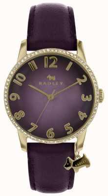 Radley Женские фиолетовые часы с золотым чехлом RY2726