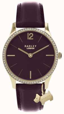 Radley Женские часы из фиолетового кожаного ремешка для золота RY2708