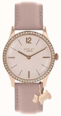 Radley Женские часы розового золота кожаный ремень паутины RY2700