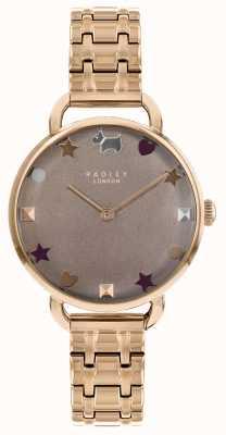 Radley Женские часы из розового золота с открытыми плечами RY4350
