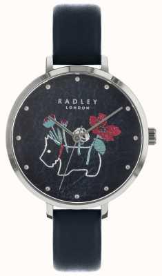 Radley Женские цветочные и собачьи печати черные часы RY2681