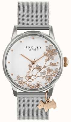 Radley Женские часы серебряный сетчатый браслет белый циферблат RY4347