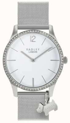 Radley Дамы кристаллы сваровски белый циферблат из нержавеющей стали RY4353