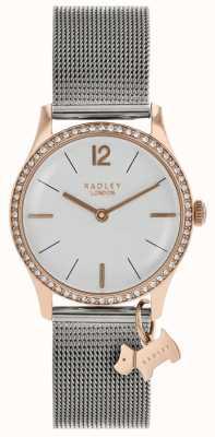 Radley Дамы кристаллы swarovski серебристый белый циферблат RY4351