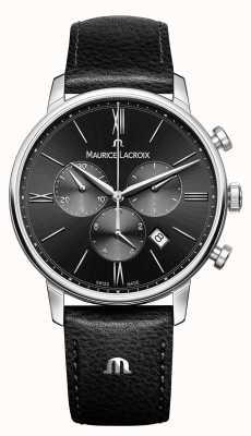 Maurice Lacroix Eliros хронограф мужской черный циферблат EL1098-SS001-310-1
