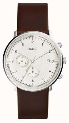 Fossil | мужские часы погони коричневая кожа | FS5488