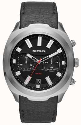 Diesel Мужские часы с черным кожаным ремешком DZ4499