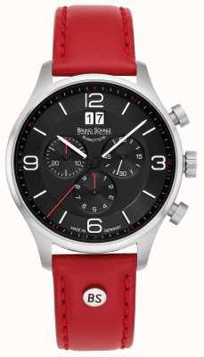 Bruno Sohnle Падуя-хронограф | красный кожаный ремешок 17-13196-723