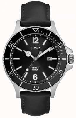 Timex | мужская | Индиго гавань | черный циферблат | черная кожа | TW2R64400D7PF