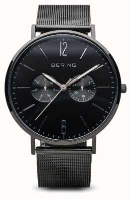Bering Классический | полированная черная | мужская | 14240-223