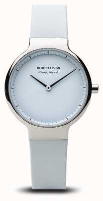 Bering Макс Рене | полированное серебро | силиконовый ремешок 15531-904