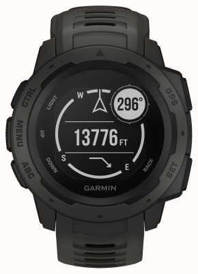 Garmin Инстинкт графитовый открытый GPS силиконовый ремешок 010-02064-00