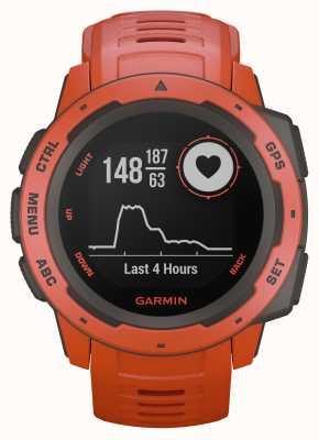 Garmin Инстинкт пламени красный открытый GPS силиконовый ремешок 010-02064-02