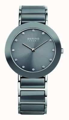 Bering Серый керамический браслет из нержавеющей стали 11435-789