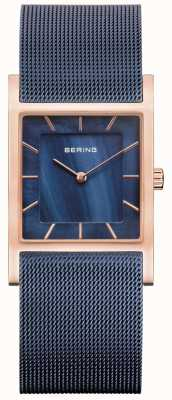 Bering Синий сетчатый браслет синий перламутровый циферблат 10426-367-S