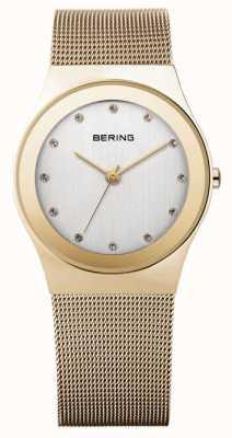 Bering Время женщин аналоговый кварц из нержавеющей стали с покрытием 12927-334