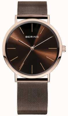 Bering Классические часы коллекции с сеткой и царапинами resista 13436-265