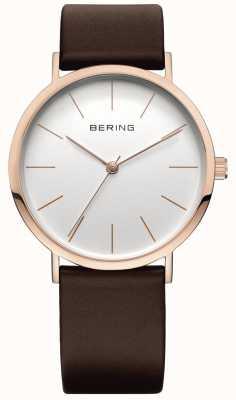 Bering Классические часы коллекции с телячьей лентой 13436-564