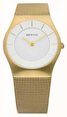 Bering | женские часы с золотым ремешком из сетки | 11930-334