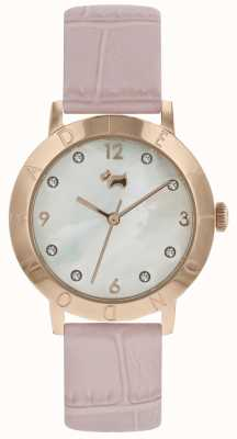 Radley Женские рельсы высокого качества деревянные часы розового золота розовый ремешок RY2538
