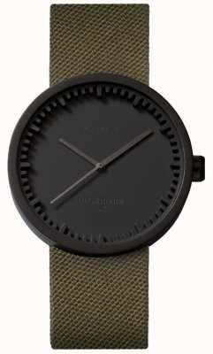 Leff Amsterdam Труба часы d38 cordura матовый черный корпус зеленый ремешок LT71014
