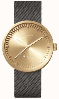 Leff Amsterdam Трубчатые часы d38 | пудра латунь | серый ремешок LT71025