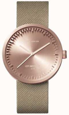 Leff Amsterdam Трубчатые часы d38 | пурпурное розовое золото | песчаный ремень LT71033