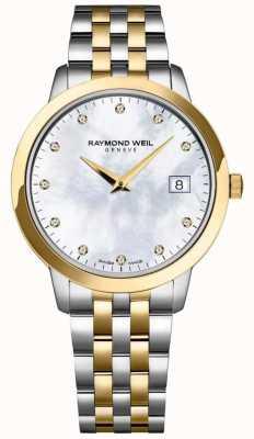 Raymond Weil Женская токката бриллиант набирает двухцветный браслет 5388-STP-97081