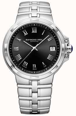 Raymond Weil Мужской браслет из нержавеющей стали парсифаль черный циферблат 5580-ST-00208