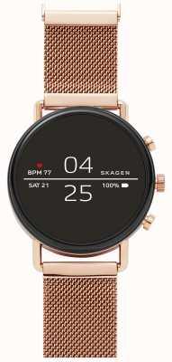 Skagen Falster 2 gen 4 smart watch розовая золотая сетка SKT5103