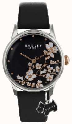 Radley Ралли женские | цветочный принт | черный циферблат | кожаный ремешок RY2687S