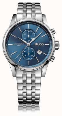 Hugo Boss Мужская струя хроно нержавеющей стали браслет синий циферблат 1513384