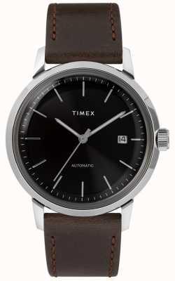 Timex Марлин автоматический | коричневый кожаный ремешок | TW2T230007U