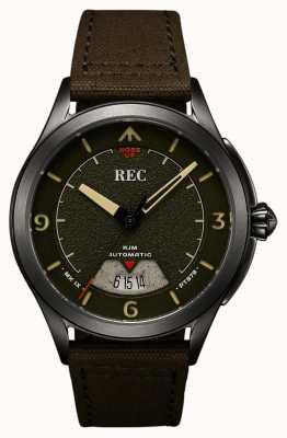 REC | pt879 mk ix spitfire | брезентовый ремень | автоматические часы | RJM-03